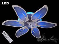 Потолочная LED-люстра с диммером и подсветкой, 110W 8096-6WHLEDDIMMER2