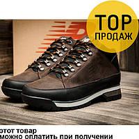 Мужские зимние кроссовки  New Balance 754, на меху, кожаные, коричневые / кроссовки мужские Нью Беланс 754