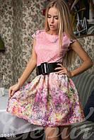 Розовое весеннее платье Gepur 11418