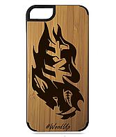 Деревянный чехол на Iphone 7/7s  с лазерной гравировкой 4х4