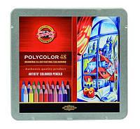 Карандаши Kooh-i-noor POLYCOLOR, 24 цвета, металлическая уп. 3824024002PL