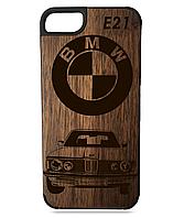 Деревянный чехол на Iphone 7/7s  с лазерной гравировкой BMW E21