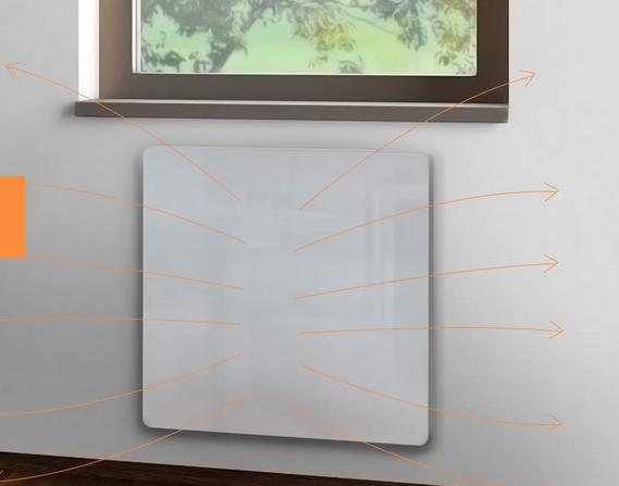 інфрачервоні обігрівачі HSteel ISH Premium рівномірно прогрівають всі предмети в кімнаті, стіни і повітря