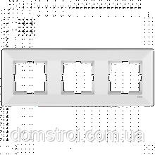 Тройная горизонтальная рамка VIKO Meridian белый