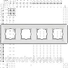 Четверная горизонтальная рамка VIKO Meridian белый