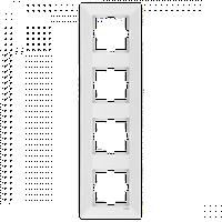 Четверная вертикальная рамка VIKO Meridian белый