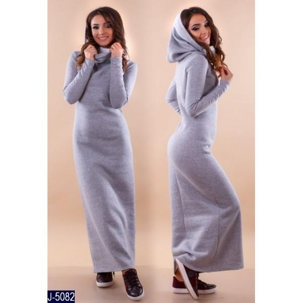 8060b5e61be6b5 Тепла сукня максі з трикотажу трьохники з начосом: продажа, цена в ...