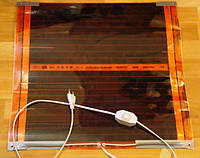 Теплый коврик ИК, электрический с регулятором температуры. 50х50см., фото 1