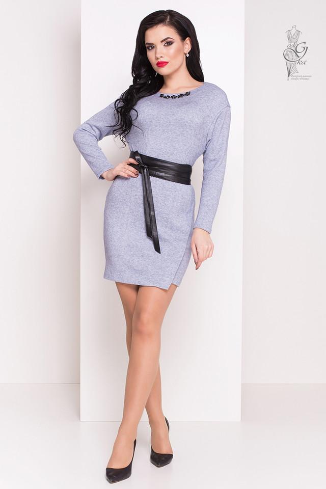 Голубой цвет Ангорового женского платья Ломи