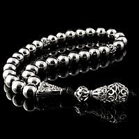 Серебряные четки, Ø9 мм., 154ЧТС