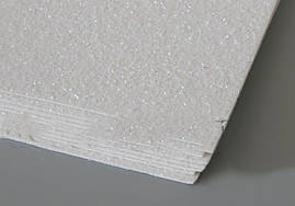 Дизайнерский  картон белый с перламутровым  глиттером 50 х 70 см.