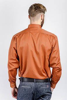 Рубашка мужская атласная Osc №878-8 (Терракотовый)