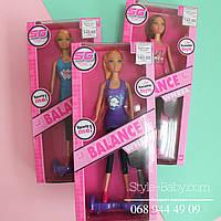 Кукла типа Барби Спортивная прогулка и гироборд в коробке