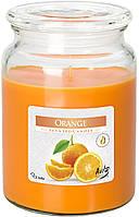 """Ароматическая свеча snd99-63 в стекле с крышкой BISPOL """"Апельсин"""""""