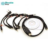 Retevis 6 в 1 USB кабель для программирования раций и прошивки раций