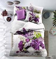 Комплект постельного белья сатин Love you digital евро размер Вега