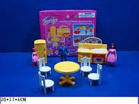 Мебель Jennifer для гостинной, шкаф, тумба.., куклы (2 девочки и мальчик), 2898