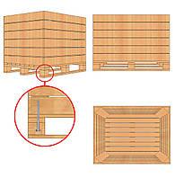 Контейнер деревянный для яблок  (размер 1200*1000*800)