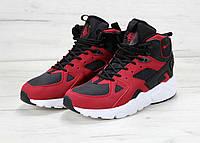 Кроссовки Nike Huarache Winter High Black/Red мужские 43