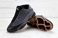 Мужские баскетбольные кроссовки Nike Air Jordan 13 Low Quai 54 Black Dark Grey White Chrome Hot