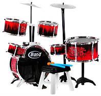 Большая детская барабанная установка 6601B-3 +тарелки+барабаны В НАЛИЧИИ