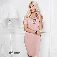 Очень красивое замшевое платье с переплетом на декольте 5 цветов