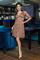 """Приталенное нарядное платье """"Alores"""" с декольте и расклешенной юбкой (4 цвета), фото 2"""