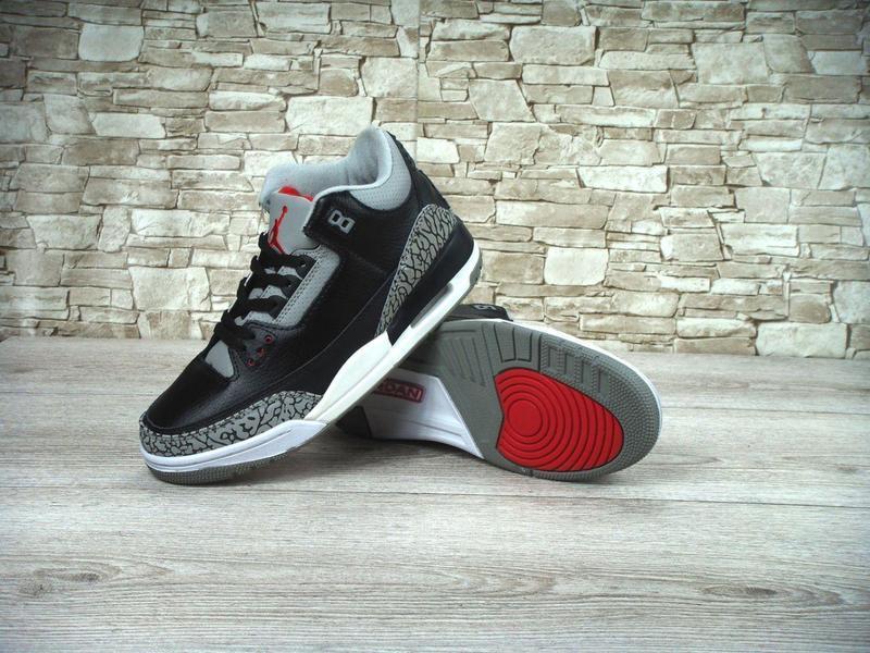 Кроссовки Мужские Баскетбольные Nike Air Jordan 3 Black Cement Р. 42,46 — в  Категории