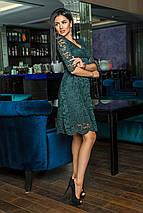 """Приталенное нарядное платье """"Alores"""" с декольте и расклешенной юбкой (4 цвета), фото 3"""