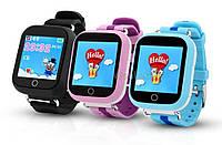 Детские GPS часы Smart Baby Watch Q100s (GW200S) с цветным сенсорным экраном и телефоном
