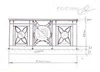 Эскиз кованых перильных ограждений, фото 1