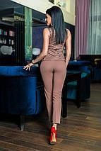 """Нарядный брючный женский костюм """"Yulia"""" с баской (4 цвета), фото 2"""