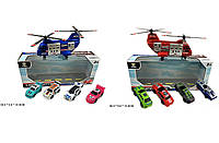 Игровой набор вертолет, машинки, 2 вида, AF1018AB