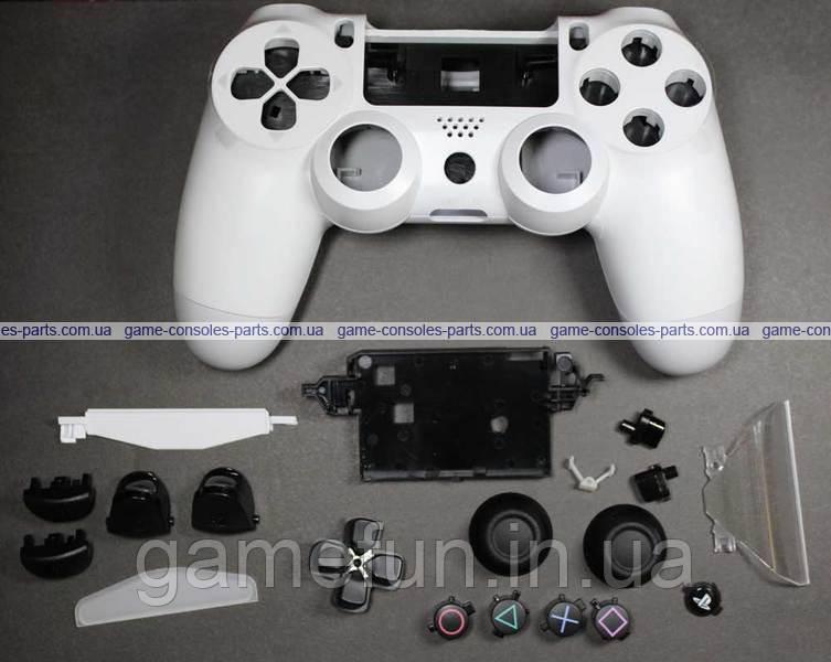 Корпус для джойстика PS4 Dualshock 4 JDM-030 в сборе (Оригинал) (Белый)