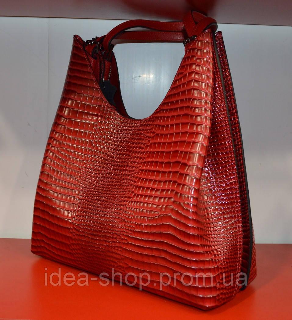 4b1e8ed1bef8 Женская красная сумка из натуральной кожи производство турция -  интернет-магазин