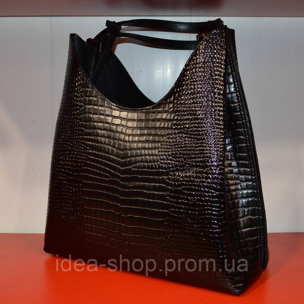 3f071ea9 Женская черная сумка из натуральной кожи производство турция -  интернет-магазин