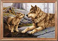 Волчица с волченком