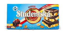 """Чорный шоколад  Orion """"Studentska Pecet"""" Duomix 180 грамм"""