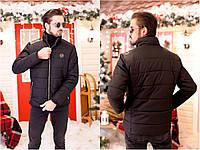 Мужская зимняя куртка на натуральной овчине