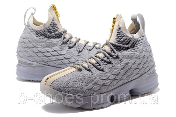 9545da66cc9f Мужские баскетбольные кроссовки Nike LeBron 15 (White)
