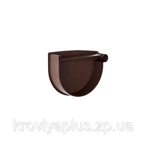 Заглушка воронки водосточной правая Ø90 (Rainway, Украина), коричневая., фото 2