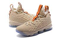 Мужские баскетбольные кроссовки Nike LeBron 15 (Beige), фото 1