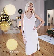 Красивое свободное платье с лентами-завязками 5 цветов