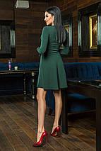 """Короткое ангоровое платье """"Sabrina"""" с длинным рукавом и расклешенной юбкой (5 цветов), фото 2"""
