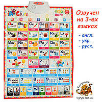 Плакат говорящая азбука, интерактивный английский алфавит