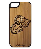 Деревянный чехол на Iphone 7/7s  с лазерной гравировкой Baer-2