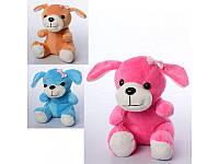 Мягкая игрушка собачка, размер средний, 5 цветов, 18см, MP1401