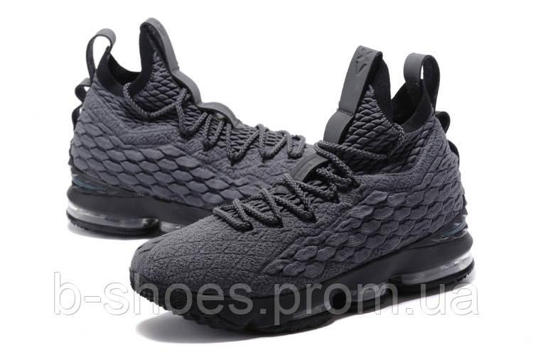 Мужские баскетбольные кроссовки Nike LeBron 15 (Gray/Black)