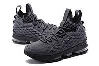 Мужские баскетбольные кроссовки Nike LeBron 15 (Gray/Black), фото 1