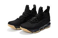 Мужские баскетбольные кроссовки Nike LeBron 15 (Black plastic), фото 1